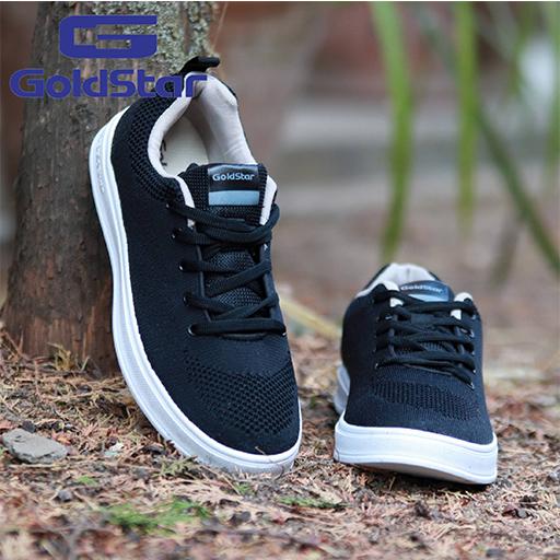 Goldstar Black Sports Shoes For Men - Dash 02
