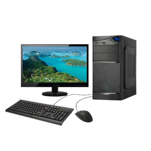 """Assembled Desktop Computer SSD128,RAM 4GB, with Monitor 17"""""""